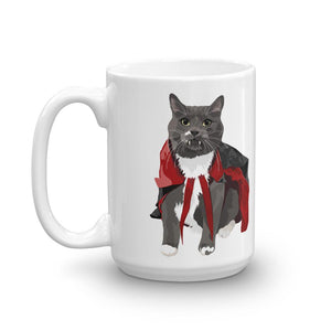 Vampire Cat Ceramic Coffee Mug | Vampurr - mrscopycat