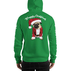 Christmas Hooded Sweatshirt | Santa Dog Hoodie-MrsCopyCat