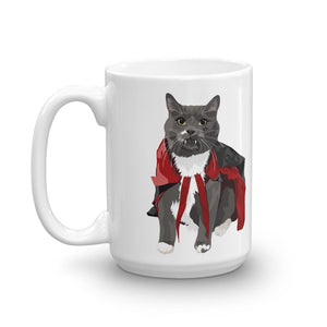Vampire Cat Ceramic Coffee Mug - mrscopycat