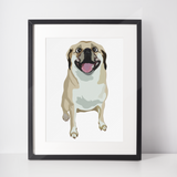 Puggle Art Print | Monster-MrsCopyCat