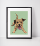 Terrier Mix Art Print | Scrappy Doo-MrsCopyCat