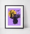 Bat Cat Art Print | Full Moon-MrsCopyCat