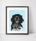 Border Collie Art Print-MrsCopyCat