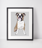 English Bulldog Art Print | Buddy-MrsCopyCat