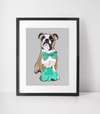 English Bulldog Art Print | St Patrick's Day-MrsCopyCat