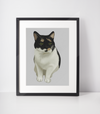 Calico Cat Art Print | Smokey-MrsCopyCat