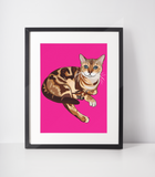 Bengal Cat Art Print | Leo-MrsCopyCat