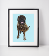 Brindle Mastiff Art Print-MrsCopyCat