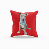 Pitbull Puppy Throw Pillow-MrsCopyCat