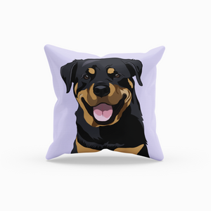 Rottweiler Throw Pillow | Raven-MrsCopyCat