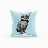Gray Tabby Cat Throw Pillow | Simba-MrsCopyCat
