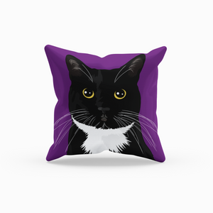 Tuxedo Cat Throw Pillow | Paloma Roses-MrsCopyCat