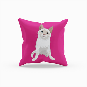 Flame Point Kitten Cat Throw Pillow | Jinx-MrsCopyCat