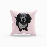Brindle Dachshund Throw Pillow | Lady-MrsCopyCat