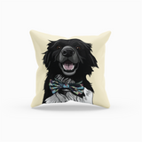 Border Collie Throw Pillow | Floss-MrsCopyCat