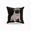 Pug Throw Pillow-MrsCopyCat
