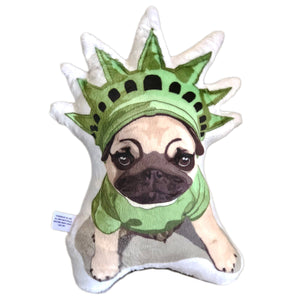 Pug Puppy Shaped Plush Pillow | Otis Lady Liberty-MrsCopyCat