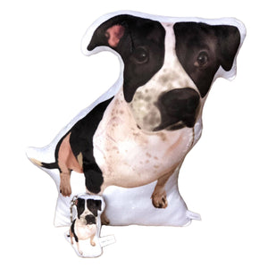 Pitbull Shaped Plush Pillow | Brutus-MrsCopyCat