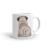Pug Butt Coffee Mug-MrsCopyCat