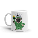 Lady Liberty Pug Mug | In Pug We Trust - mrscopycat