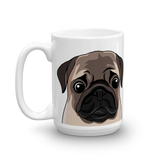Pug Face Coffee Mug - mrscopycat