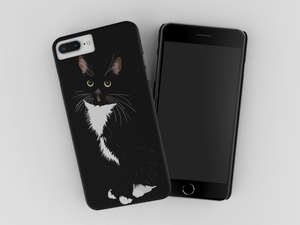 Tuxedo Cat iPhone Case Black | Paloma-MrsCopyCat