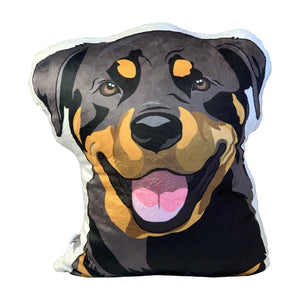 Rottweiler Plush | Dog shaped Pillow Pet - mrscopycat