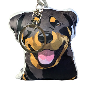 Rottweiler Shaped Plush Pillow | Raven-MrsCopyCat