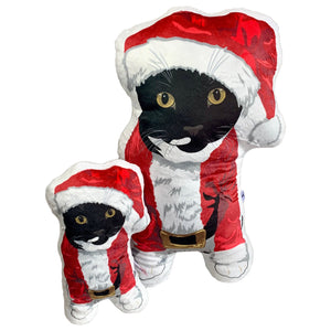 Tuxedo Cat Santa Pet Pillow | Picasso-MrsCopyCat