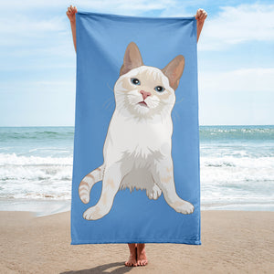 Flame Point Cat Beach Towel | Jinx