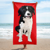 Portuguese Waterdog Mix Beach Towel | Holly
