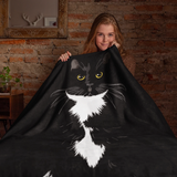 Tuxedo Cat Minky Throw Blanket | Paloma-MrsCopyCat