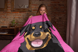 Rottweiler Throw Blanket | Raven-MrsCopyCat