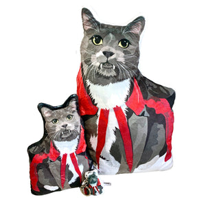 Vampire Cat Shaped Plush Pillow | Ravioli-MrsCopyCat