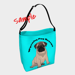 Wholesale Custom Pug Neoprene Shoulder Bags | ONLY 6+ items