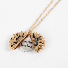 "Load image into Gallery viewer, ""You Are My Sunshine"" Sunflower Necklace"