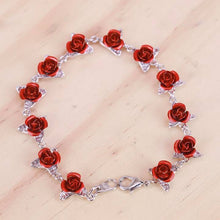 "Load image into Gallery viewer, ""12 Reasons"" Rose Bracelet"
