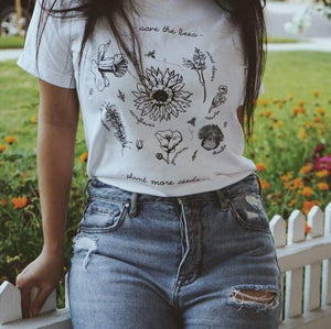 Save The Bees Plant More Seeds - Tee