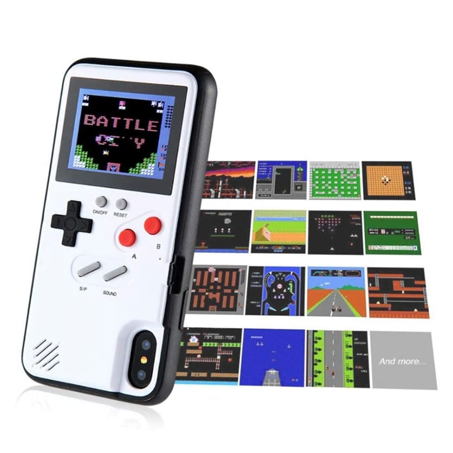 Image result for full color game boy soft tpu phone case for iphone x xs max xr 6 7 8 plus color display 36 classic game console silicone cover ipxm9