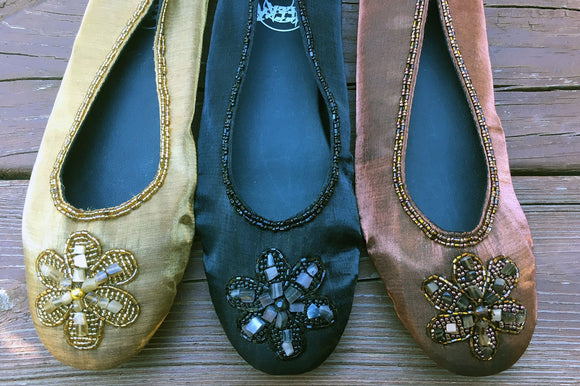 Ballet Slippers Beaded
