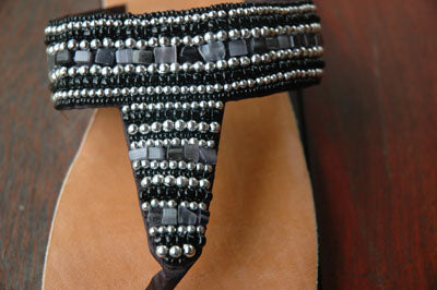 Athena Sandal - Black - Sizes 6-7-SALE