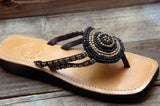Ashley Sandal - Black/Gold - Sizes 6-7 - SALE