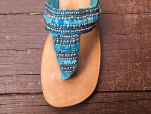 Athena Sandal - Lt. Blue - Sizes 6-7-10-SALE