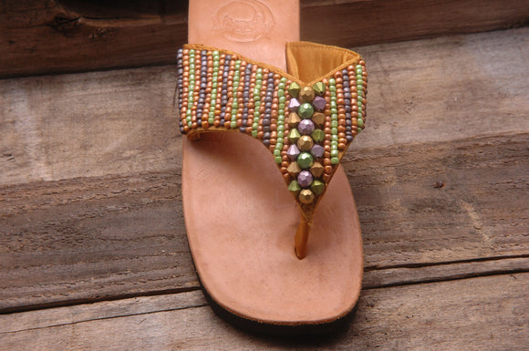 Metallic Sandal - Multi-Gold - Size 7 - SALE