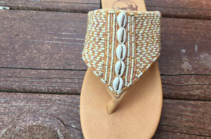 Shell Sandal - Bronze - Size 6 - SALE