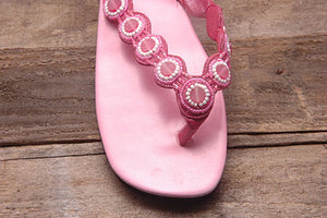 Daisy Sandal - Pink - Sizes 7 and 10 - SALE