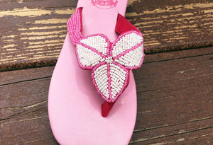 Leaf Sandal - Pink - Sizes 6-7-10 - SALE