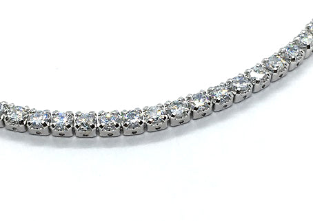 Sterling Silver Slider Tennis Bracelet - Alex Aurum