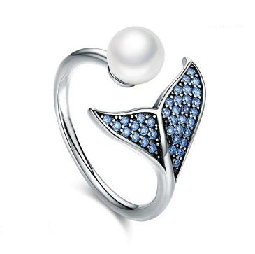 Sterling Silver Dolphin Tail Ring - Alex Aurum