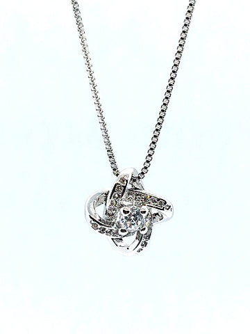 Sterling Silver Knot Pendant - Alex Aurum
